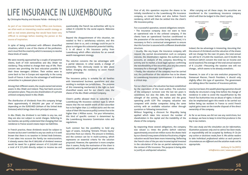 Autumn issue_Family Office Magazine_Life insurance in Luxembourg