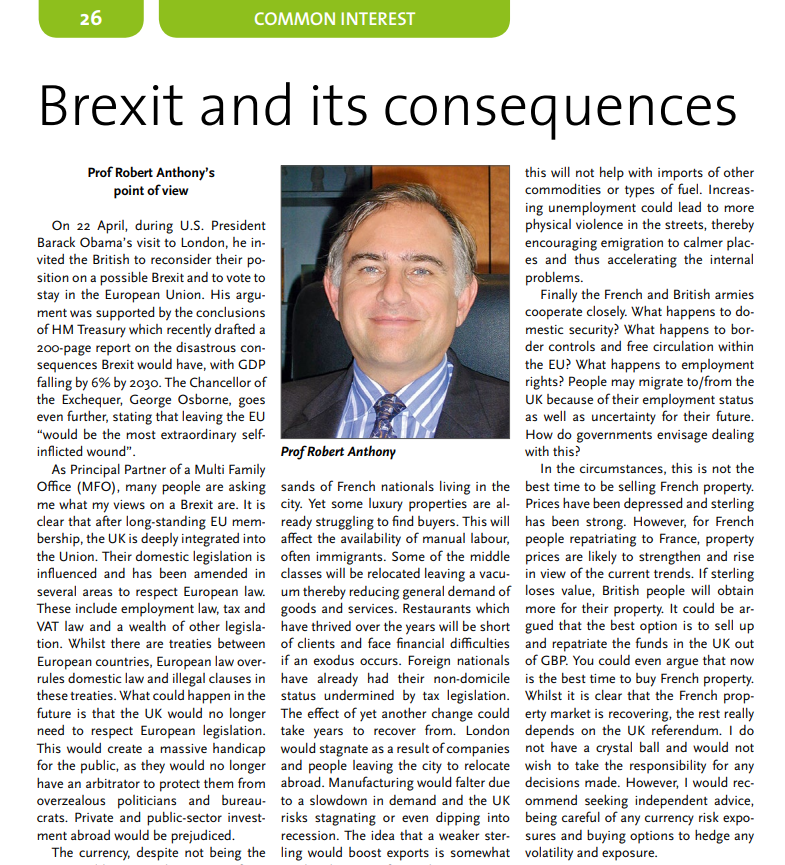 Brexit and its consequences